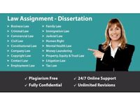 LAW WRITING - URGENT HELP - DISSERTATION / ESSAY / ASSIGNMENT / COURSEWORK / + PROOFREAD & EDITING