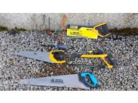 Collection of hand saws