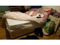 Double bed base & mattress