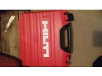 22v hilti impact, grinder & skill saw boxes