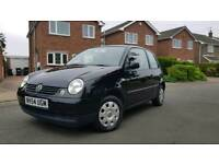 2004 volkswagen lupo 1.0 ltr in stunning gloss black only 68000 miles
