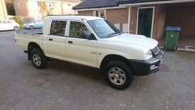 Mitsubishi L200 GL 4 work lwb double cab pick up.