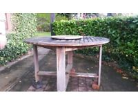 Wooden Garden Table 51 inches