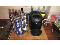 Tassimo Coffee Machine & 55 coffee pods & pod stand & Espresso cups/stand. Excellent condition!