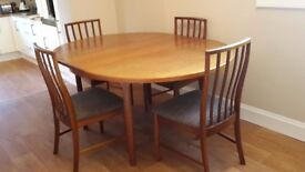 MacIntosh Dining table and 4 chairs