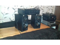 Technics speakers+Sherwood Amplifier
