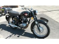 1965 BSA B40 In beautiful condition, Black and Chrome.