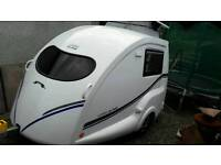 Go Pod 2 berth Micro Caravan with Kyman Awning