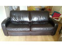 leather 3 seater and 1 seater suite