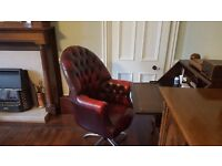 Brown Chesterfield desk/ office chair