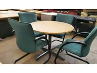 Meeting room table and 4 chairs