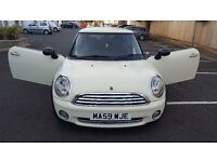 Mini 1.4 One Hatch 2009 59 Reg, Pepper Pack White/Cream with Bluetooth , Auto Start Stop Technology