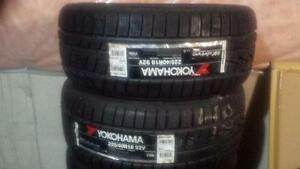 TWO TIRES NOT FOUR BRAND NEW WITH LABELS ULTRA HIGH PERFORMANCE YOKOHAMA ' V ' RATED 225- 40-18 WINTER TIRES