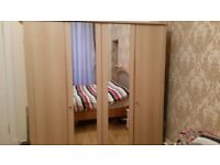 mirrored double wardrobe for sale *bargain price *