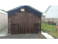 Bargain Wooden garage for sale £100 and two greenhouses