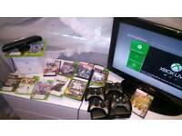 Xbox 360, 12 games and 4 controllers
