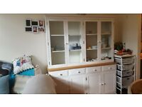 Solid Wood Dining Room / Kitchen, Large Display & Storage Cabinet.