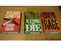 WILBUR SMITH HARDBACK 7 BOOKS. (c) 1986 to 2007