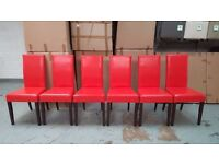 BRAND NEW BOXED ARINA Dining Chairs Red Leather £30 each (24 Available) CAN DELIVER