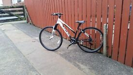 Carrera crossfire 2016 only used twice,in excellent condition,pump and helmet included
