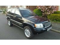 Jeep Grand Cherokee 2.7 CRD, 2003, low miles, 1 yr MOT - ++GEARBOX FAULT++ - drives normally