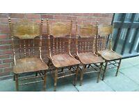 Solod Wood Vintage Dining Chairs
