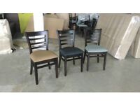 wooden chair, leather seat, dining, kitchen furniture