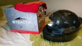 Stealth carbon fibre helmet S