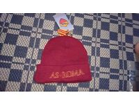 Brand New ROMA Football Beanie Hat Red Soccer Wooly Winter ITALY