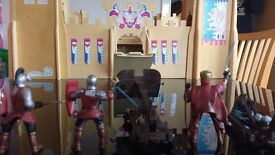 Wooden castle and knights in shining armour Quite big,