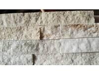 Brick slip wall tiles