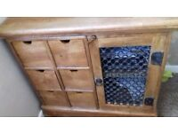 Solid wood sideboard and unit