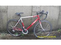 B/TWIN RACING BIKE LIGHTWEIGHT 52cm ALLOY FRAME EXC ORIG COND JUST SERVICED