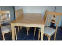 Good Quality Dining Table & 6 Chairs