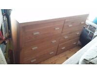 Solid Oak hand built bespoke chest of drawers