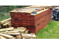 Cedar wood cladding 6inches deep 18mm thick 2.5m lengths