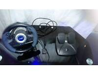 Ps2 Steering wheel and Foot Pedals