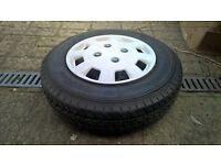 Spare Caravan/Trailer wheel and new tyre - 165/80 r13