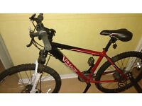 """Apollo Phaze Bicycle - Very good condition. 21 Shimano Gears. 17"""" Frame. Colour red and black."""