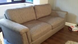Harveys Buxton 3 seater sofa, cuddle chair and footstool with storage
