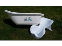 Matching Baby Bath, Top & Tail Bowl, Stool/Step, plus Bath Support Seat