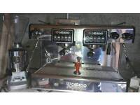 Casadio coffee machine + coffee grinder