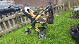 Baby Pram Stroller Pushchair 3in1 3Tech Car Sit Carrycot Travel System Buggy