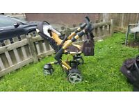 Baby Pram Stroller Pushchair 3in1 3Tech Car Sit Carrycot Travel System Buggy