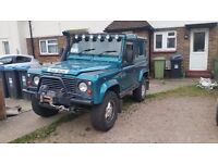 Land rover defender...good overall condition. Full yrs MOT with rear bench seats fitted