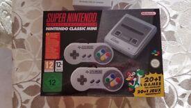 SNES Mini Classic Super Nintendo Console NEW SEALED Includes AC Adaptor