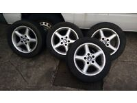 """BMW E36 X4 16"""" ALLOY WHEELS WITH TYRES (STYLE 18)"""