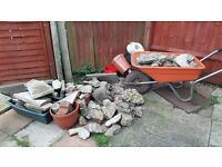 Rubble and broken Slabs