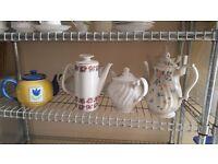 Assorted teapots