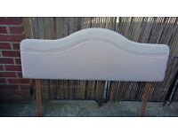 52 inch long creamy pink padded headboard